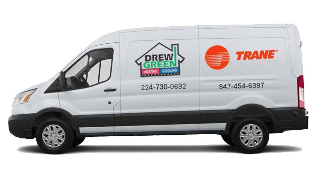 Drew Green Heating & Cooling van